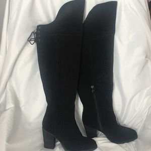 Sbicca Gusto Over The Knee Suede Boots 7M Black